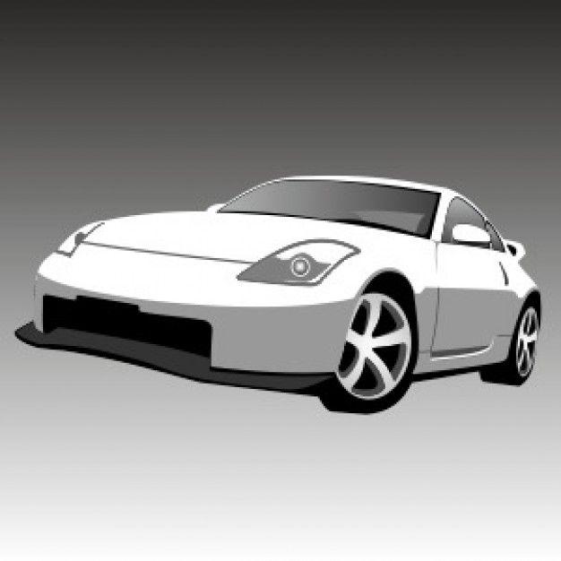 Nissan gt-r sport car vector