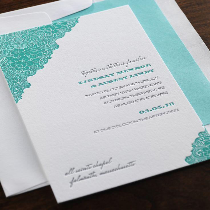 Belle Wedding Invitation By Checkerboard Ltd.