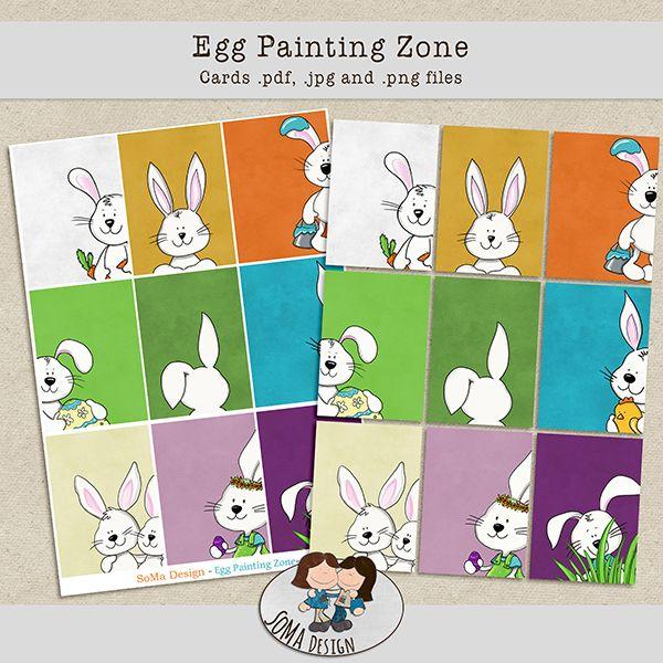 SoMa Design Egg Painting Zone Cards