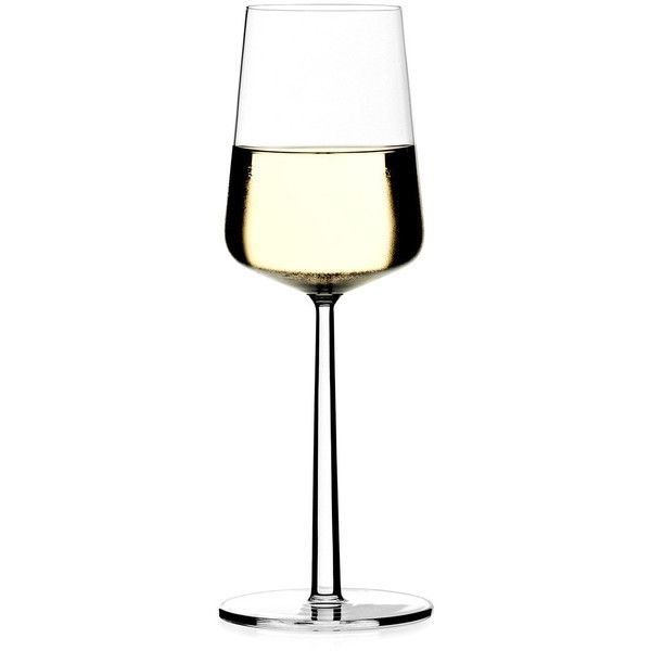 Iittala Essence white wine glasses pair ($37) ❤ liked on Polyvore featuring home, kitchen & dining, drinkware, food and drink, iittala, iittala glasses and iittala glassware