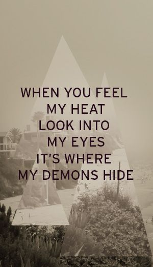 Imagine Dragons, Demons lyrics