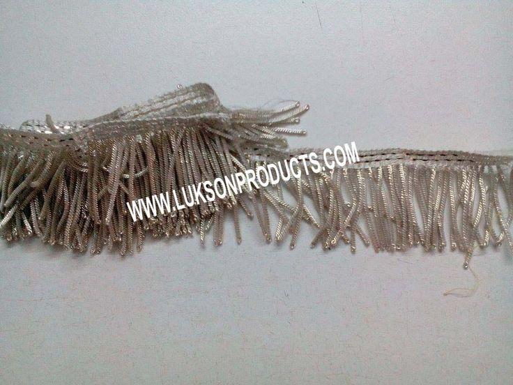 Hand made silver color Fringe. More: WWW.LUKSONPRODUCTS.COM