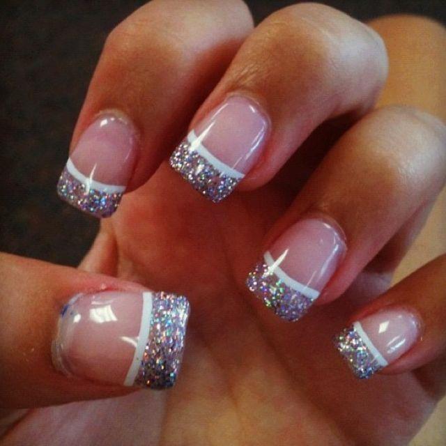 Glitter French tips
