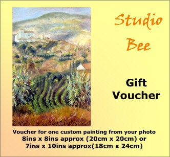Custom painting from photo Gift Voucher Certificate by StudioBee (Art & Collectibles, Painting, original painting, gift certificate, Christmas, last minute gift, gift voucher, painting from photo, wedding present, retirement gift, custom painting, landscape painting, house painting, art from photo)