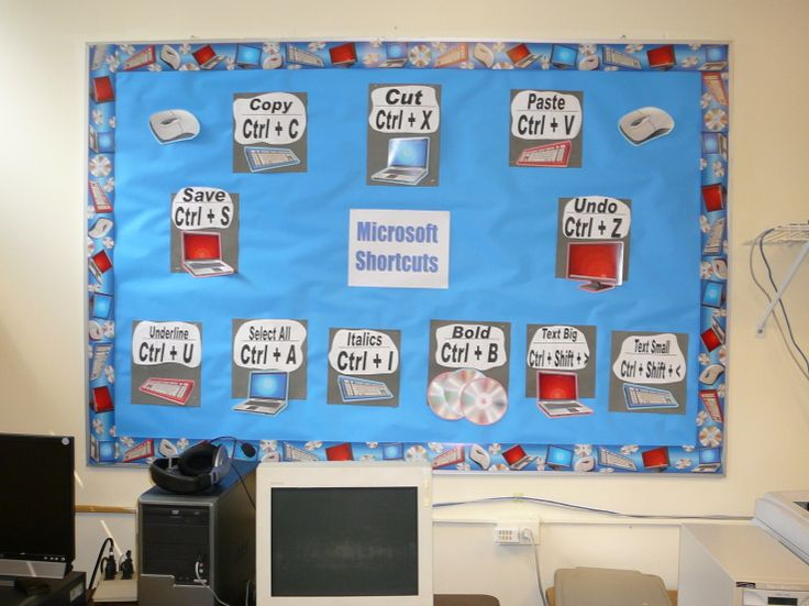 Computer Lab Decorations Elementary ~ Ideas about keyboard bulletin board on pinterest