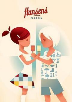 Cool Danish Vintage Poster