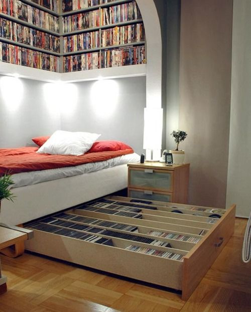 Library Bed -- How awesome is this?