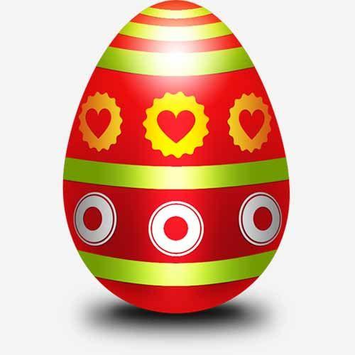 Пасхальное яйцо шаблон Psd