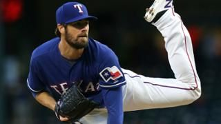 "96. Cole Hamels #35  -  Colbert Michael ""Cole"" Hamels is an American professional baseball pitcher for the Texas Rangers"