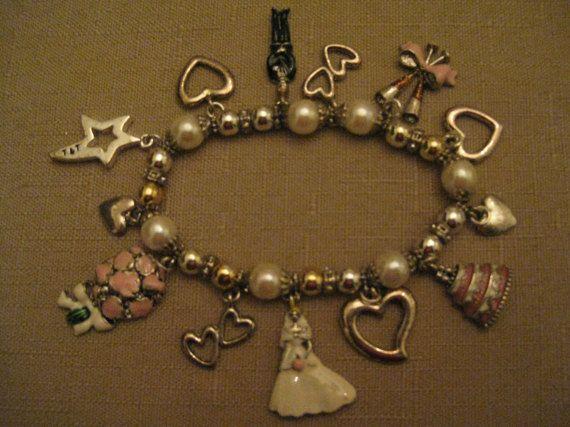 Un Worn Wedding Charm Bracelet Enamel by vtseredipityboutique