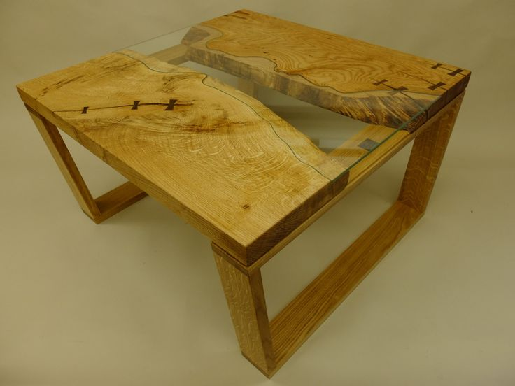 Solid English Oak And Walnut Table Handmade 39 Wood And