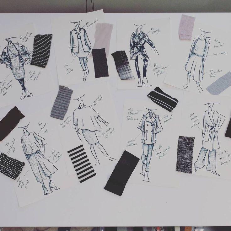 Kurkistus ensi syksyn cut &  pret lookkeihin! 😏 Pitkiä linjoja, asymmetrisia helmoja, väljyys ja kerroksellisuus jatkuu. En malta itsekään odottaa. 😆/Johanna #cutetpret #designedforyou #stockmann #valitsetyylisi #behindthescenes #fashionillustration