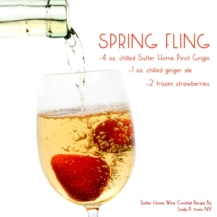 90 best easter party spring out the wine images on for Cocktail recipes with white wine