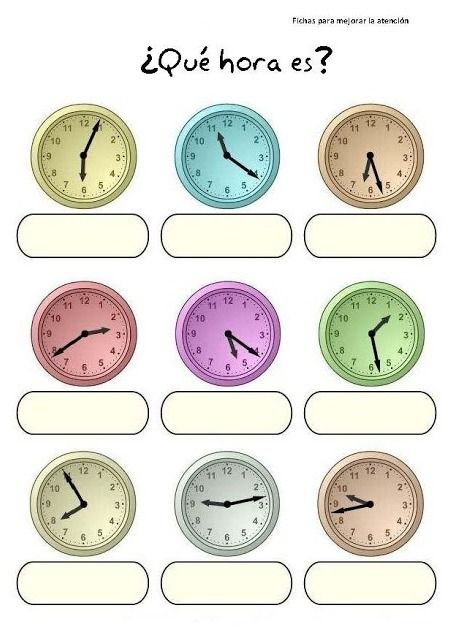 Spanish for kids: telling time in Spanish. ¿Qué hora es? #Spanish