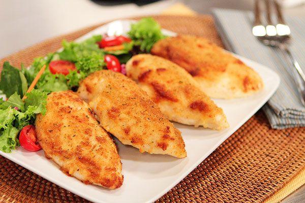Κοτόπουλο+με+κρούστα+μαγιονέζας+και+παρμεζάνας+στο+φούρνο