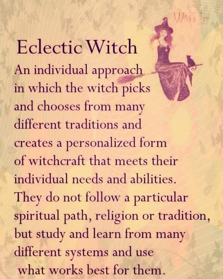 Eclectic witch