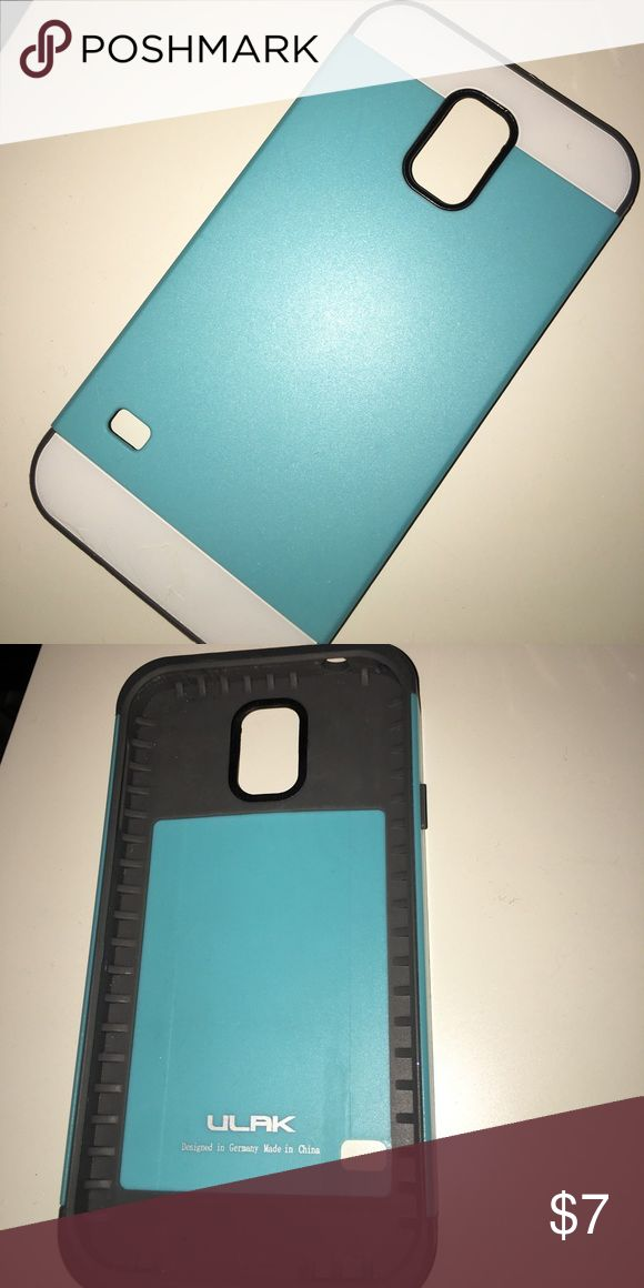 samsung galaxy s5 case (blue/grey) was only used a few times. it is in great condition!! ulak Accessories Phone Cases