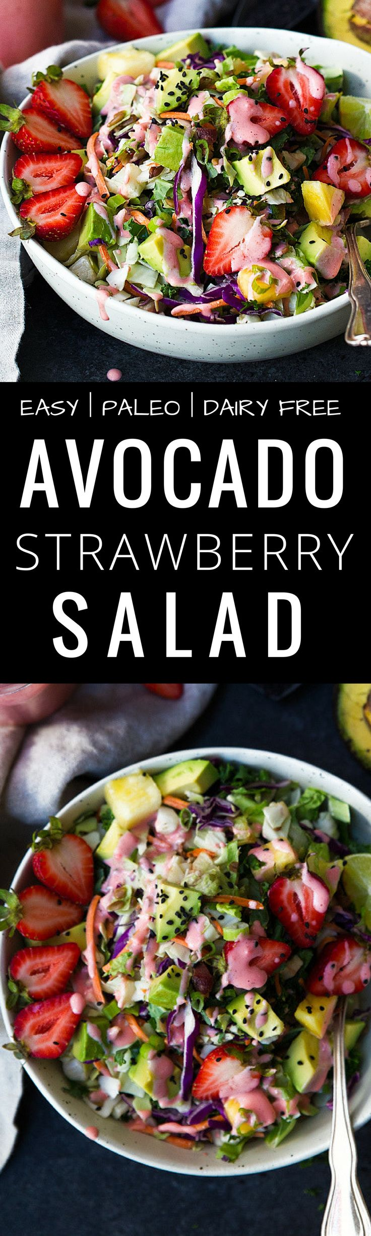 Paleo Strawberry Avocado Salad recipe. EASY PALEO…