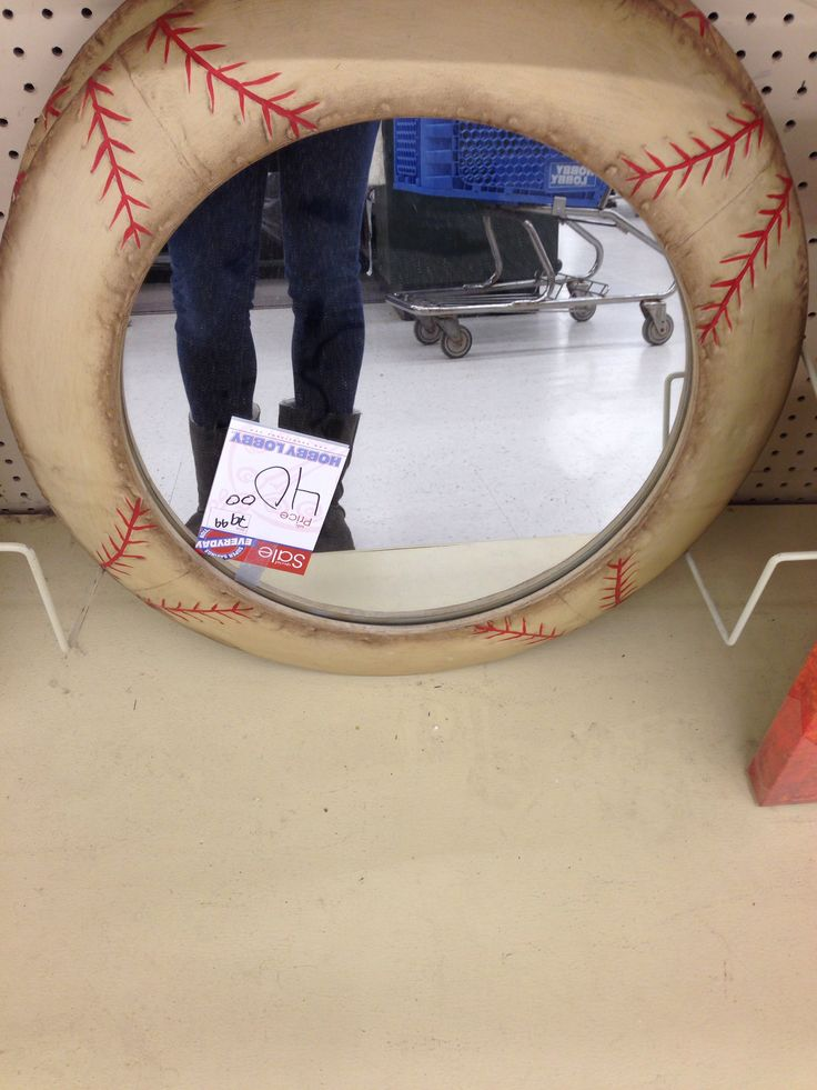 Baseball Mirror From Hobby Lobby