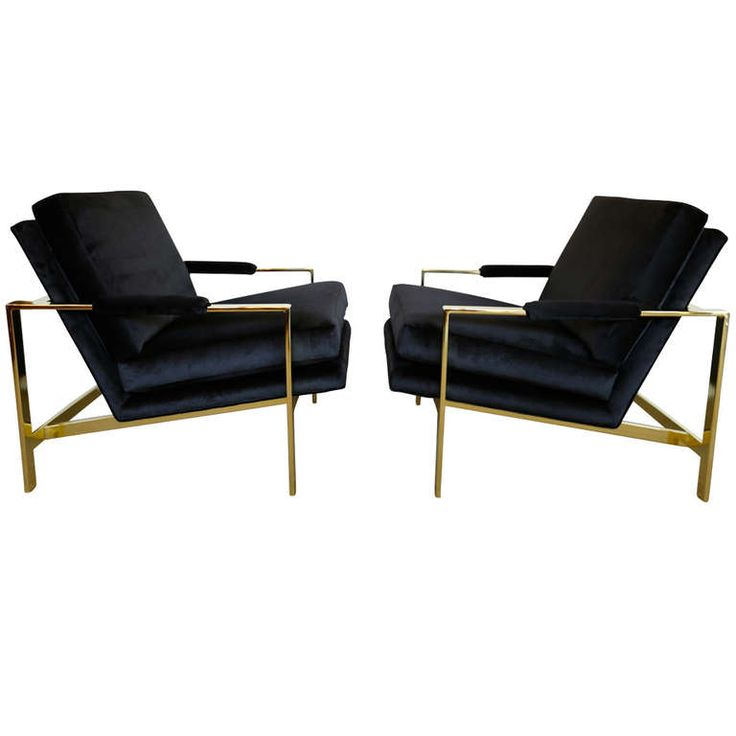 Love love love love.... // Pair of Brass & Velvet Lounge Chairs by Milo Baughman | From a unique collection of antique and modern lounge chairs at http://www.1stdibs.com/furniture/seating/lounge-chairs/