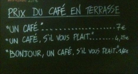 French café charges extra for rudeness - The Local