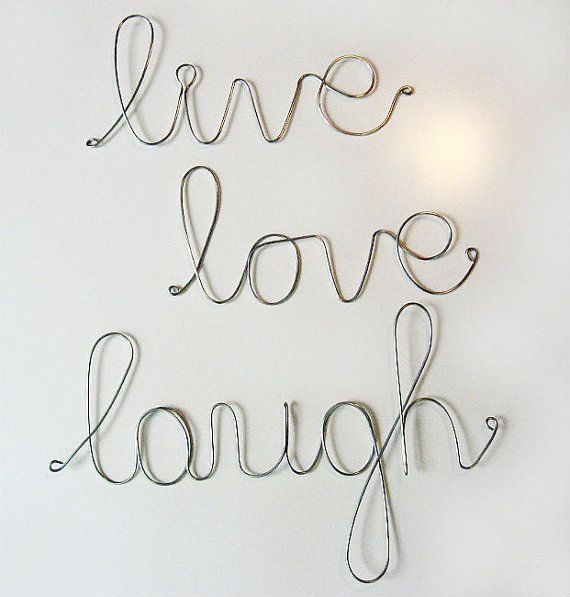 .: Laugh Wire, Sayings, Inspirational Live, Idea, Quote, Art, Trio Sign, Live Laugh Love