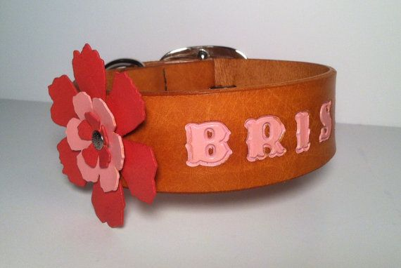 Dog Collar Leather  1 3/4 Wide Custom Stamped by arcadiancraftsman, $62.00