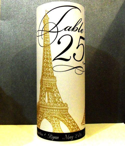 Eiffel Tower French Luminary Centerpiece 85 inch by dearemma