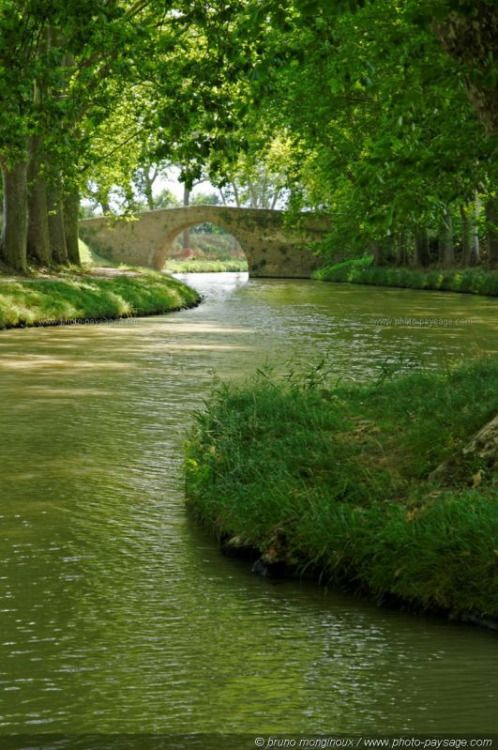 """(via The """"Canal du Midi"""" photographed in the region of Carcassonne (Aude, south-west of France).:)"""