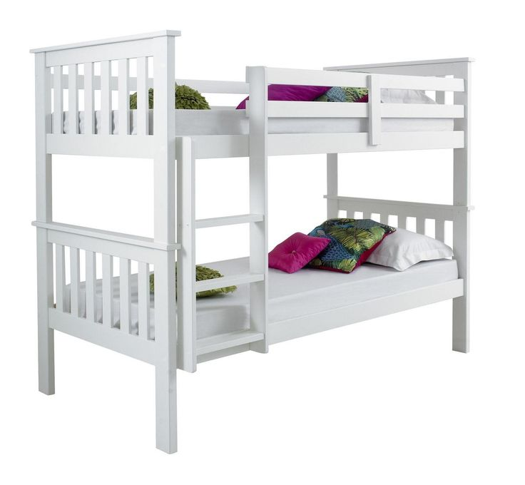 Review Atlantis Quality Wooden White Bunk Bed - Inspirational solid bunk beds
