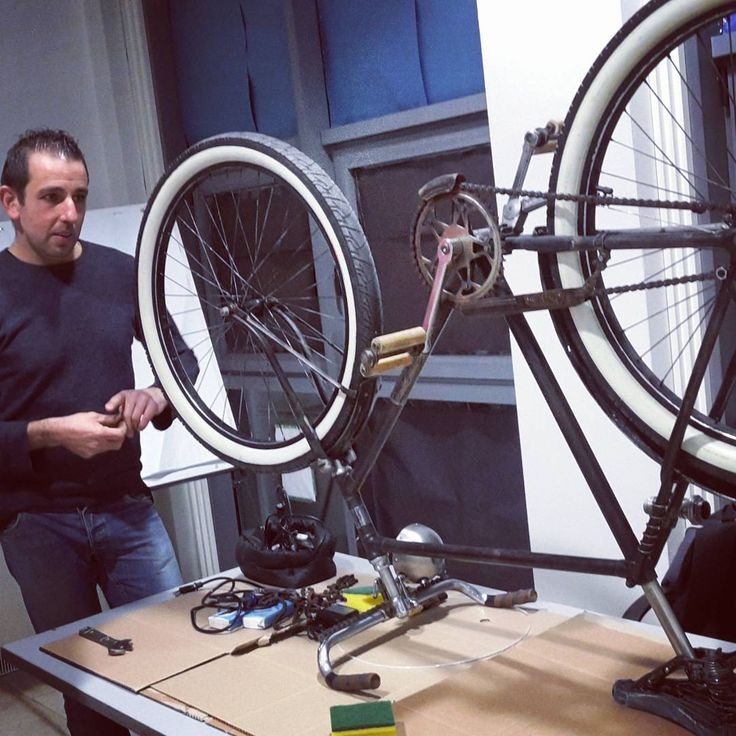 I love my bike! Our #workshop to #recycle #bycicle, #ecofriendly #restailing in a #ratrod style By #AntonioBianchi #riciclab