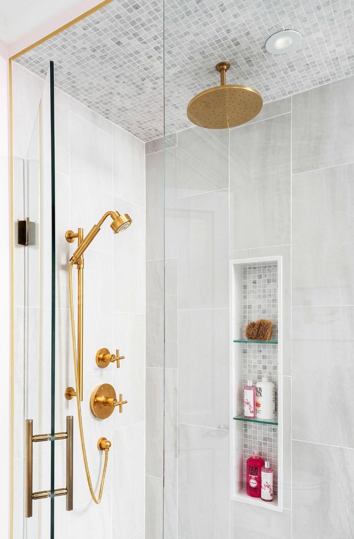 Brass bathroom fixtures are still hot!