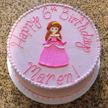 This Princess Looks Perfect On A Pink Birthday Cake