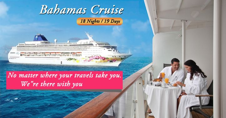 #USATourPackages‬  ‪‎#USACruiseTours‬  ‪‎#USAHolidays‬ USA Tour Packages Offers Budget USA with Bahamas Cruise Tours, Bahamas Cruise Deals 2015 from Delhi India and Enjoy pristine beaches and turquoise waters on your Bahamas cruise.