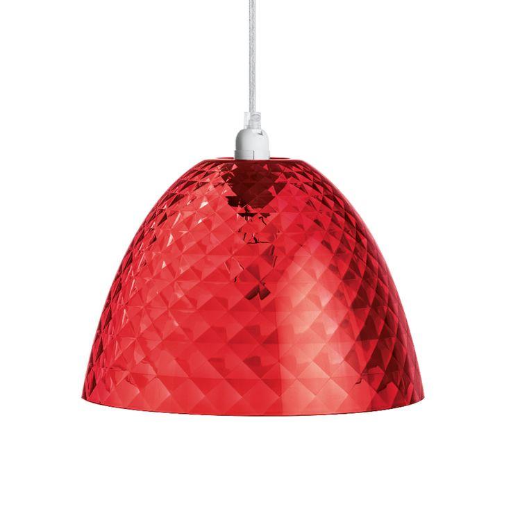 STELLA - Lámpara de techo Rojo Transparente S Koziol