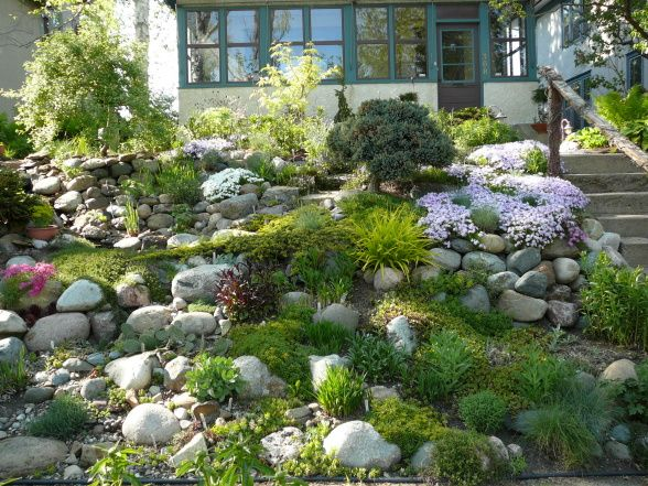 25 best rock wall gardens ideas on pinterest for Hillside rock garden designs