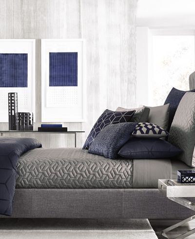 Hotel Collection Cubist King Coverlet, Only at Macy's - Bedding Collections - Bed & Bath - Macy's