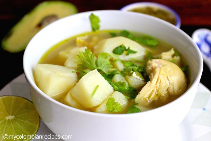 Caldo de Pollo con Papa ( Chicken and Potatoes Broth)