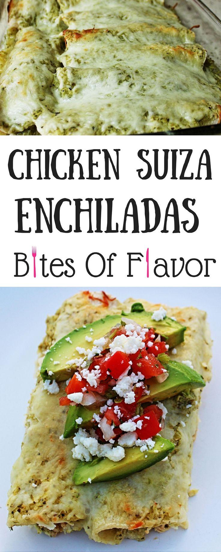 Chicken Suiza Enchiladas-Shredded Chicken Weight Watcher Enchiladas-Mexican Food- 9SmartPoints