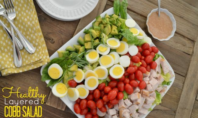 healthy layered cobb salad | Salads and sides | Pinterest
