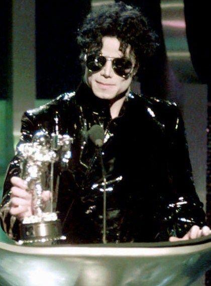 Michael Jackson with moon man.