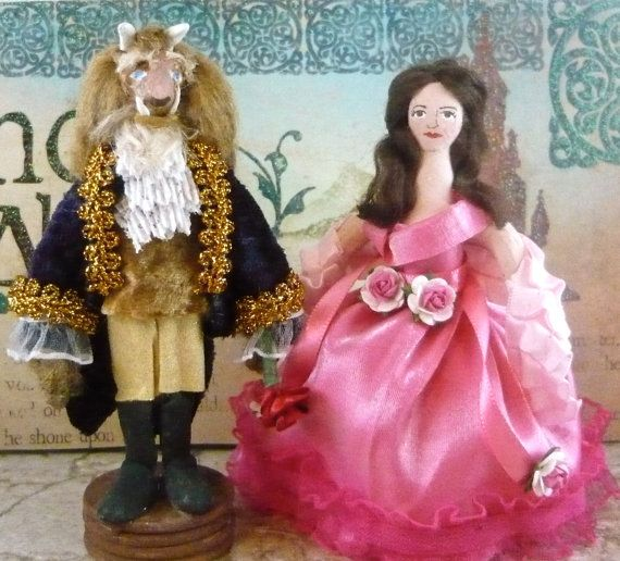 Beauty and the Beast Doll Fairy Tale Art by UneekDollDesigns, $89.00