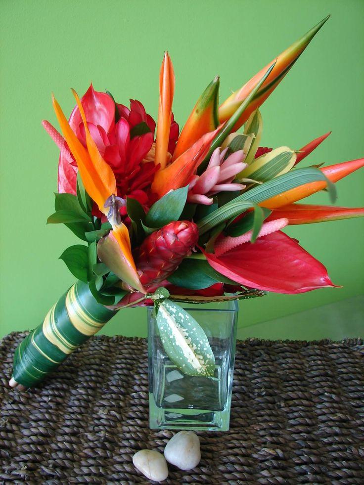 Tropical flower bouquet - Roatan Wedding
