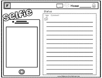 character cell phone writing activity
