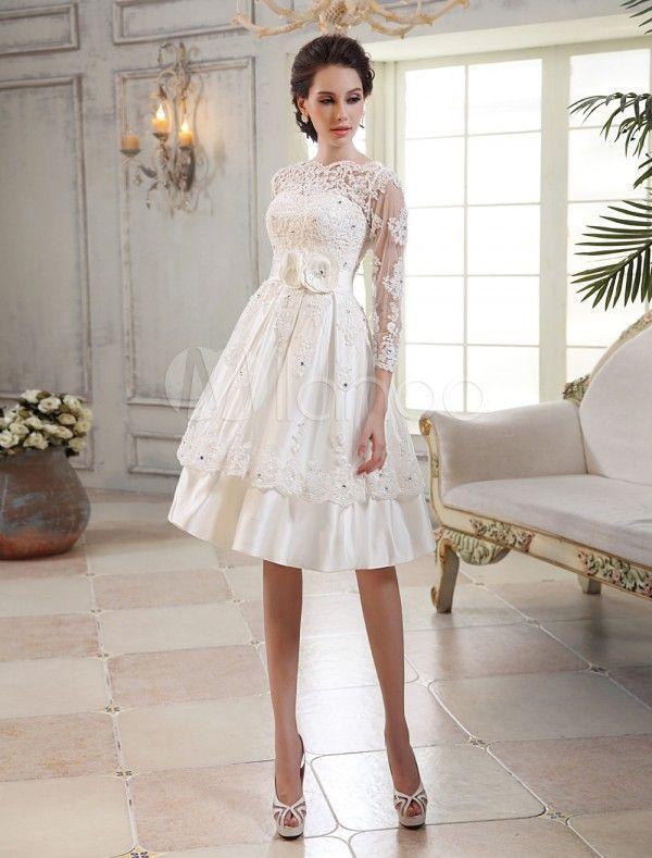 d990f685c vestidos-de-novia-baratos-2014-MILANO-corto