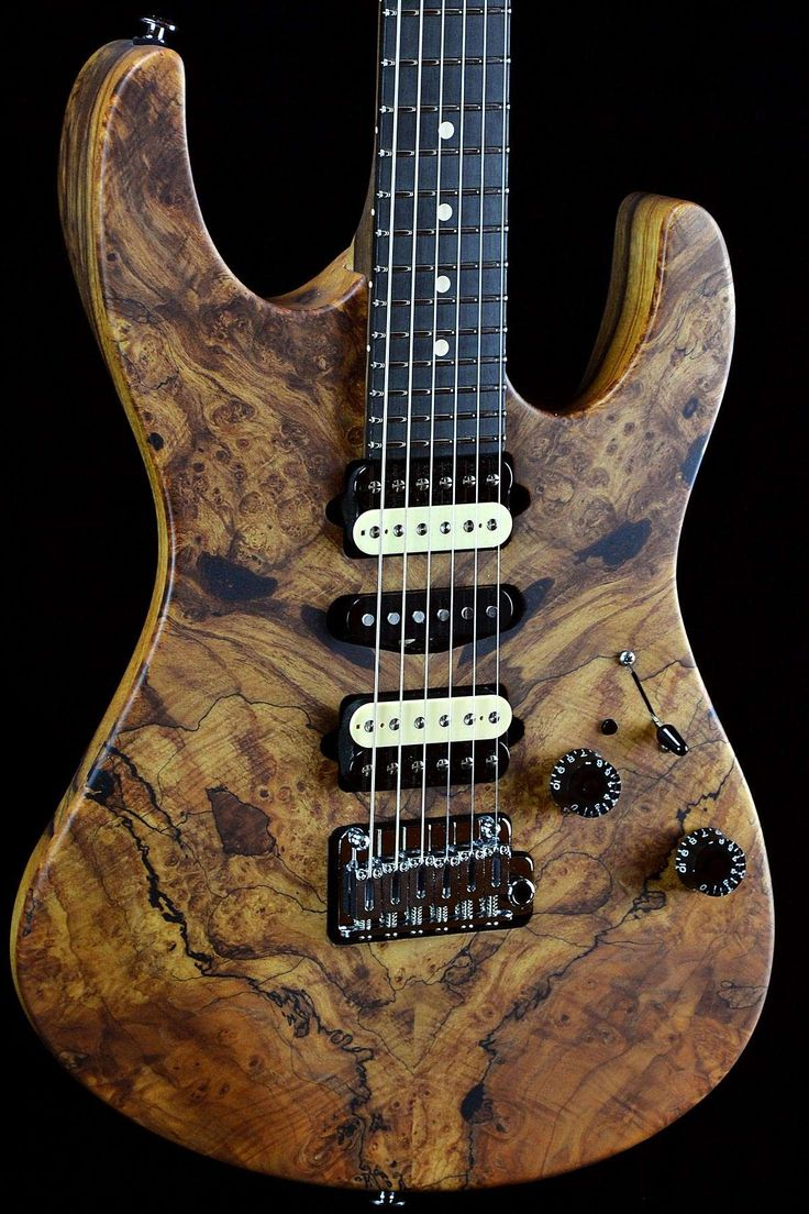 Suhr Custom Modern Natural Spalted Maple Satin Top w/ Black Limba Back and Neck - Wild West Guitars