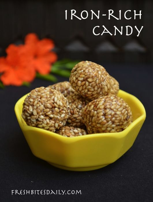 Indian sesame seed candy -- Iron rich!