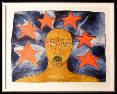 Maori Art Robyn Kahukiwa Matariki II painting