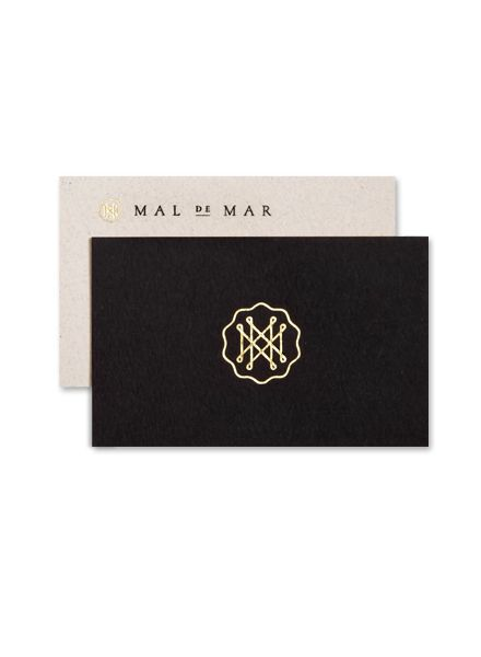as part of a larger identity and branding project, face, a design studio based in monterrey, mexico, created this beautiful typographic logo design/monogram for mal de mar, an electronic journal where ideas and projects involving art, design, architecture, photography and the art of traveling, merge all together as one in the name of beauty.