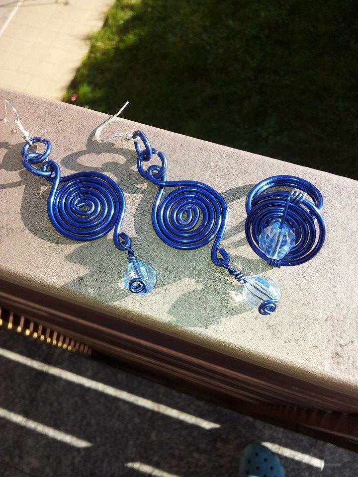 anello + orecchini spirale